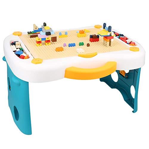 Kinderen Bouwstenen Bakstenen speelgoed, Compatibel met leertafel Multifunctionele bouwsteen Leren Speeltafel/stoel Leren en Spel Multi-activiteitentafel(#1)