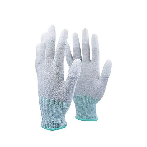 Proteger Guantes antiestáticos de PU con revestimiento de punta de los dedos...