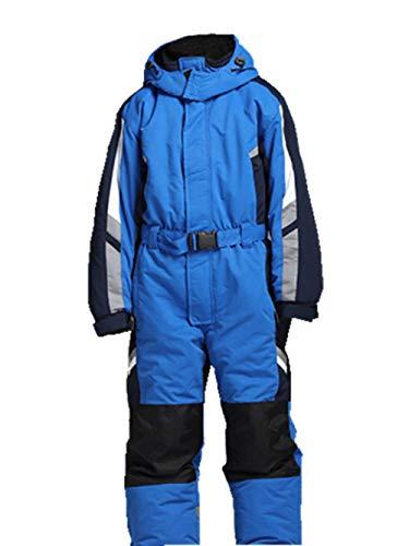 Genma0 One-Piece Snowsuit Water Resistant Windproof Taslon Reflective for Kids/Boys, Girls (Blue, 10)