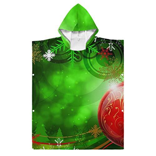 LORONA - Manta para niños y adolescentes (mezcla de poliéster), diseño de campanilla de Navidad, color rojo y verde, poliéster, multicolor, 35.43x27.55in/90x70cm