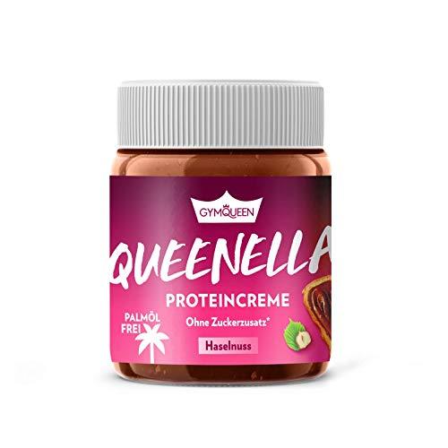 GYMQUEEN Queenella 250g Hazelnut / Protein Aufstrich mit 21% Eiweiß / Haselnuss-Creme ohne Zuckerzusatz / Brot-Aufstrich ohne Palmöl mit bestem Whey Protein