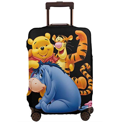 Luggage Cover Win-Nie The Pooh Travel Suitcase Protector Zipper Suitcase Cover Washable Fashion Printing Luggage Cover Zipper Travel Suitcase Protector