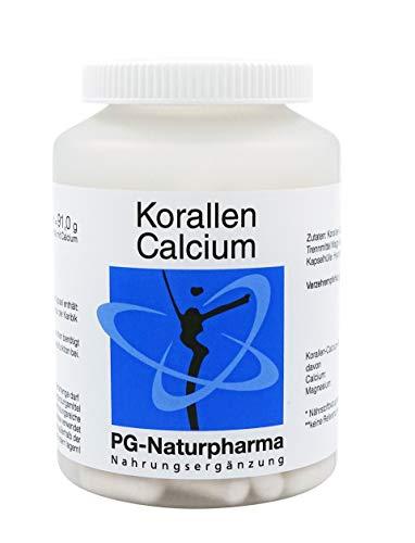 Suplementos de calcio, 120 cápsulas calcio de coral, 1 cápsula con 500mg de calcio en polvo, preservación de la función ósea y función muscular, calcio vegano coralino - SIN agotamiento del coral vivo