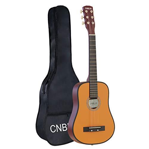 Acoustic Classical Guitar Beginner Guitar 30 inch Guitar 1/2 Size Guitar 6 Steel Strings Guitar For Beginner Kid Student Boys Girls Guitar with Guitar Bag