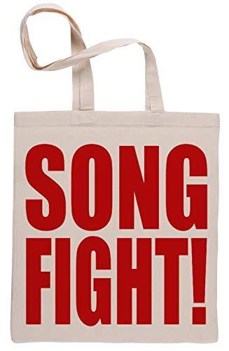 Song Fight Wiederverwendbar Einkaufstasche Reusable Beige Shopping Bag