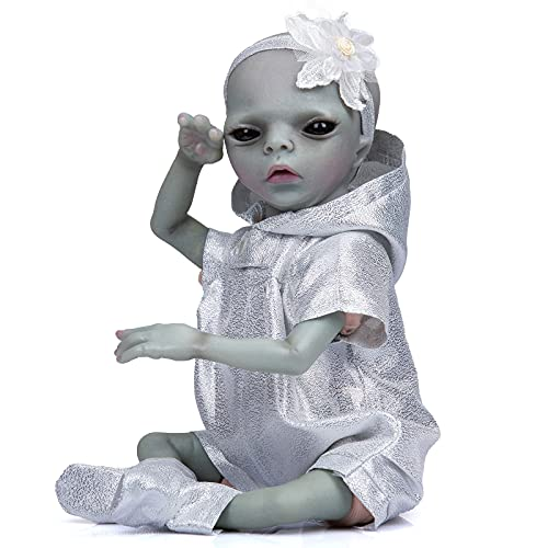 Anano Reborn Baby Dolls 14 Inches Alien Realistic Newborn Alien Baby Doll Weighted Silicone...