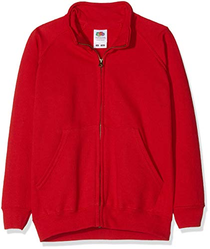 Fruit of the Loom Jungen Fruit of The LoomKids Classic Sweat Jacket Jacke, rot, 10-11 Jahre