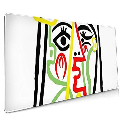 SDwosibao Pablo Picasso, Jacqueline Met strohoed 1962, Artwork Voor Posters Prints Tshirts Vrouwen Mannen Kids Oversized 40x75 Mouse Pads Water-Resistant, Voor Werk & Gaming, Kantoor & Huis, Zwart