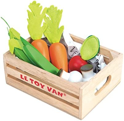 Le Toy Van Honeybake Collection Fruits '5 A Day' Food Crate Premium Wooden Toys for Kids Ages 3 Years & Up