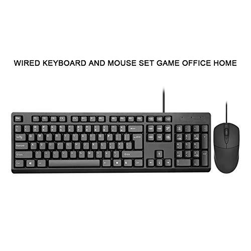 WYSSS Juego De Teclado Y Mouse con Cable Gaming Office Home Juego De Teclado Y Mouse USB De Escritorio Ergonómico Cómodo Se SientTeclado De, PosicionamientoDel Motor óptico