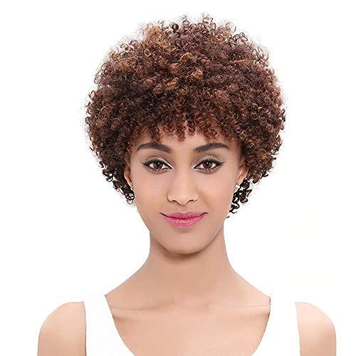 Elegante pelo Bassiremi Cabello africano Rizado rizado Tejido Color de la placa corta