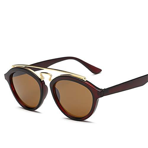 DURIAN MANGO Herren und Damen Universal Sonnenbrillen Circle Frame Fashion Individuelle Sonnenbrillen,Brown