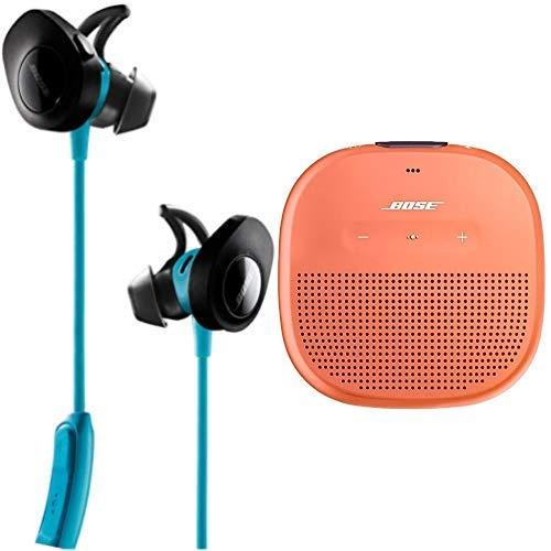 Bose SoundSport Cuffie Wireless, Azzurro + Bose SoundLink Diffusore Micro Bluetooth, Arancione Brillante