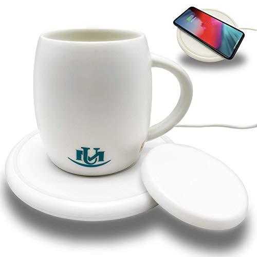 UniqueMax Coffee Mug Warmer, Warmer Mugs,14 oz, Wireless Charging, Cup Warmer, Temperature Mug for Office and Home Use to keeps Coffee And Tea Warm, Heated Coffee Mug.