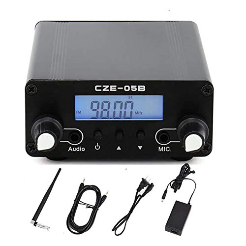FM Transmitter for Church, Elikliv 76~108MHz Digital LCD Wireless Stereo Broadcast with Antenna, Built-in PLL FM Transmitter Radio Stereo