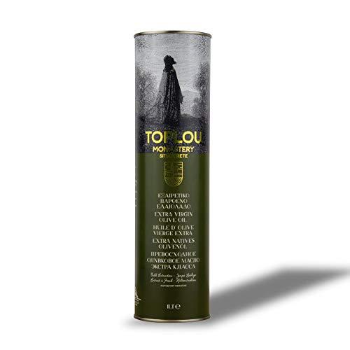 Toplou Monastery - Griekse premium extra vierge olijfolie van Kreta, koudgeperst | 1 liter bus | voor frituren, koken en bakken