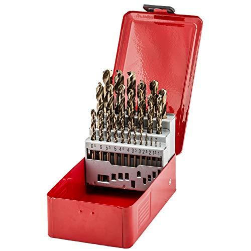 fischer 543330 Cobalt Drill Bits (25 Pieces), Grey, Set of Pieces