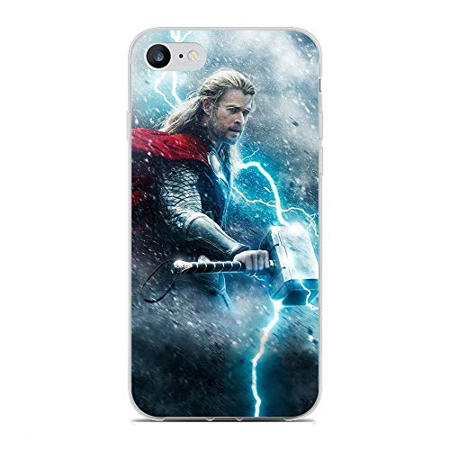 Junic Lightweight Clear Coque TPU Soft Rubber Case Shockproof Cover Shell For Apple iPhone 7/8/SE 2020-Avengers-Superhreo 8