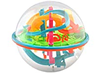TRANSPARENTE KUGEL - Das bunte Kugellabyrinth in 3D Ausführung ist ein bemerkenswertes Arcade Spielzeug und zieht jeden in seinen Bann. VIELE HINDERNISSE - Wer überwindet die vielen Hindernisse in Form von Ecken, Tunneln und Abfahrten. Unsere Kugel r...