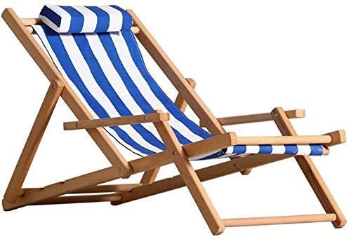 Yuany - Sillón reclinable, reclinable al aire libre, sillón reclinable, plegable exterior, tumbona de playa, sillas largas de interior, baño de sol en la playa