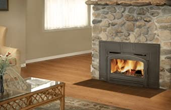 """Napoleon Oakdale EPI3 Series EPI3TN 43"""" Natural Vent Wood Burning Fireplace Insert with Up to 55 000 BTU's Cast Iron Surround Airwash System Full Refractory Lined Firebox Blower Kit"""