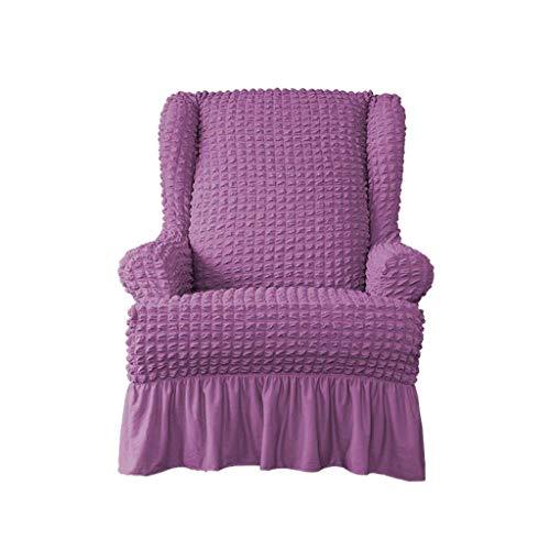 SINKITA Stretch Sessel Stuhl,Super Weich Ohrensessel Schonbezug Sofa Schutz Ohrensessel-All-Inclusive-Kratzschutz Spandex Haustiere Hund-lila-Ohrensessel