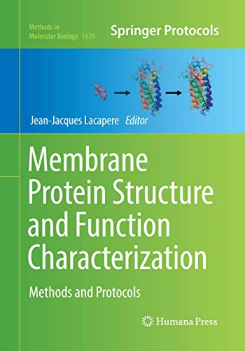 Membrane Protein Structure and Function Characterization: Methods and Protocols
