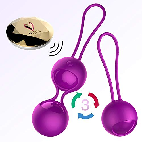 2 in 1 Kegel Exercise Weights Kit Ben Wa Balls Kegel Balls for Women Beginners, Silicone Wireless Remote Control Massager Rechargeable & Waterproof, Bladder Control & Pelvic Floor Exercises