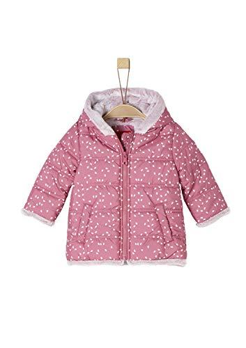 s.Oliver Baby-Mädchen 59.809.52.7020 Mantel, Pink (Dark Pink AOP 43a6), 80