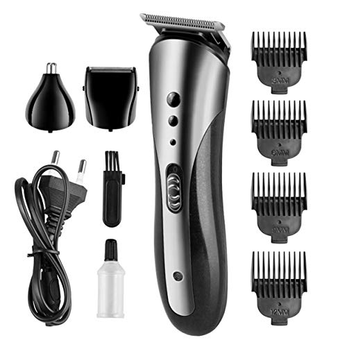 LoveOlvido 3 in 1 scheermes tondeuse neus tondeuse set multifunctionele neus trimmer Wasbaar waterdicht scheermes met 4 limiet kam