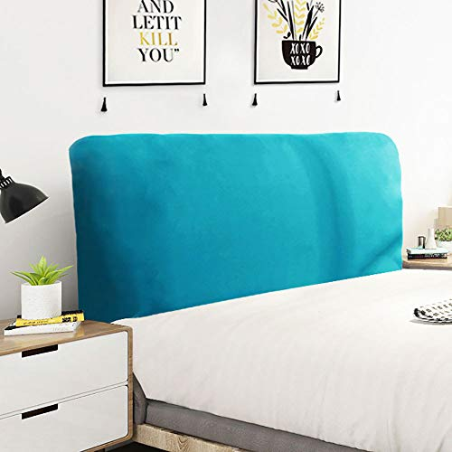 Elastic Bed Head Cover Full Enclosed Bed Headboards Slipcover Soft Delicate Stretch Fabric Dust-proof Headboard Cover For Twin Full Queen King Bed Backrest Protective Cover,Blue1-Length:210-230cm