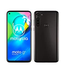 "moto g8 power Dual-SIM Smartphone (6,4""-Max Vision-HD+-Display, 16-MP-Hauptkamera, 64 GB/4 GB, Android 10) Schwarz inkl. Schutzcover & KFZ-Adapter - exklusiv bei Amazon © Amazon"