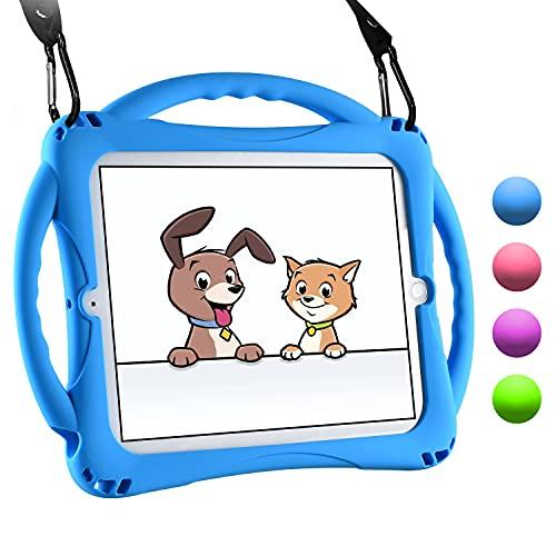 TopEsct iPad 2/3/4 Hülle Kinder, Anti-Shock Stoßfest Handgriff Ständer Schutzhülle für Apple iPad 2nd Generation,iPad 3rd Generation,iPad 4th Generation (Blau)