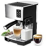 GXLO Máquina de café Espresso 3 en 1 con Potente espumador de Leche Incorporado Vaporizador de café expreso Latte y Capuchino de un Toque