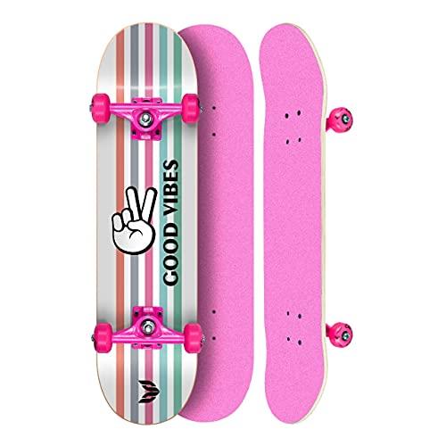 Skate Montado Profissional Cisco Feminino Good Vibes - Abec 5
