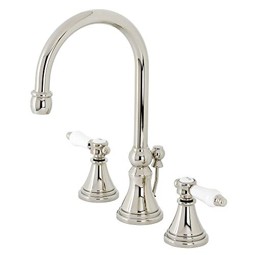 Kingston Brass KS2986BPL Bel-Air Widespread Bathroom Faucet with Brass Pop-Up, Polished Nickel