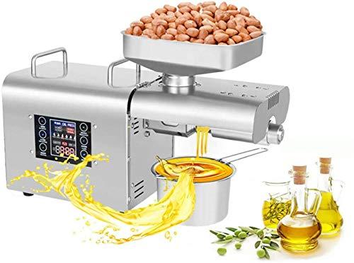 Öl-Presse-Maschine-Nussöl Extractor Edelstahl Coconut Erdnussöl Expeller intelligente Temperaturregelung mit Heißkaltpressen Gewerbe oder Home Use