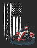 """Kart Racing: Planner Weekly and Monthly for 2020 Calendar Business Planners Organizer For To do list 8,5"""" x 11"""" with Go Kart Fun Offroad Driver Racing Karting Motorsports"""