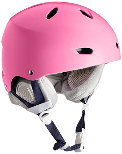 Bern Damen Ski/Snowboardhelm Brighton Women'dünne Schale Winter Boa Liner Helm, matt, Bubblegum Pink/Grau, Gr. XS/s