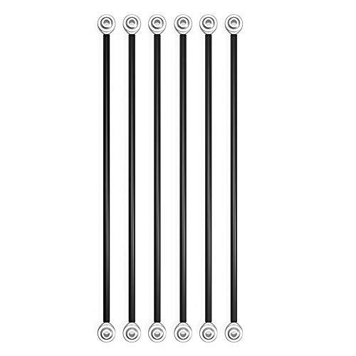 Tophomer - Set di 6 manipolatori paralleli Fisheye Carbon Rod Kit per viti M3 18 cm, Kossel Delta 3D, 18cm for M3 Screw Hole, 6