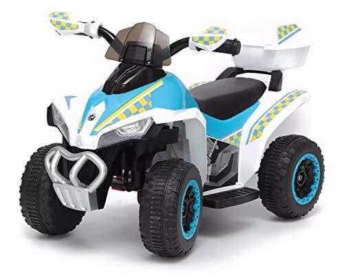 giordano shop Mini Quad Elettrico per Bambini 6V Kid Go Deluxe Bianco