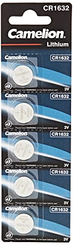 Camelion 13005632 - Lithium Knopfzellen-Batterie CR1632 mit 3 Volt, 5er Set, Kapazität 120 mAh, für verschiedenste Geräte- und Verbraucheranforderungen