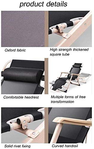 XYSQWZ Folding Recliner Deck Chair, Zero Gravity Armchair Indoor Dining Home Office Chair for Outdoor Dining Camping Inclined Camping Chair On The Lawn (Color : A, Size : 178x52x25cm)