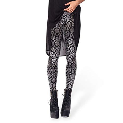 YUJIAKU Yoga broek/strak/Abdominale oefening running yoga leggings 3D digitale printen glanzende broek behang glanzend hoge taille leggings