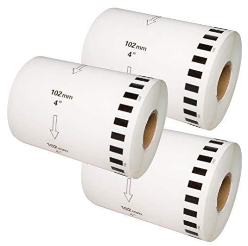 【ラベルファーム】ブラザー 互換ラベルDT-243(DK-1243)長尺紙テープ (3ロール) 幅102mm x 30.48m巻 brother QL-1050 TypeA/QL-1115NWB 等に