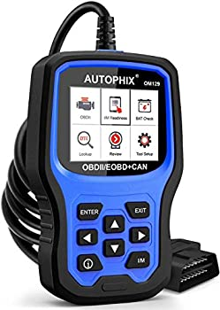 AUTOPHIX OM129 Code Reader Upgraded Graphing Battery Test Check Engine Code Reader With Full OBD2 Function Enhanced Code Definition Car Diagnostic Tool for All OBDII Car After 1996[Upgrade Version]