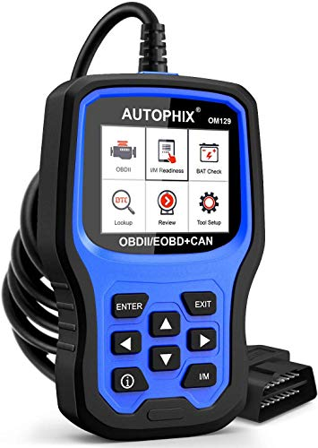 AUTOPHIX OM129 Code Reader, Upgraded Graphing Battery Test, Check Engine Code Reader With Full OBD2 Function, Enhanced Code Definition Car Diagnostic Tool for All OBDII Car After 1996[Upgrade Version]