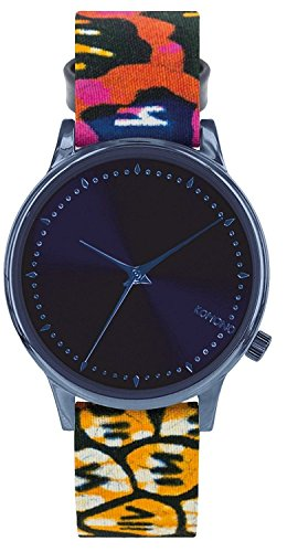 Komono x Vlisco The Estelle Watch - Women's Indigo, One Size