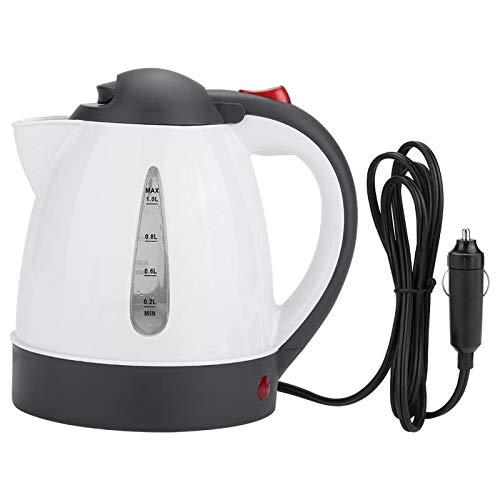 Hervidores Eléctrico Teteras Eléctricas Protable 1000ml 12/24V coche viaje auto eléctrico en el coche kettle viaje calefacción botella de agua