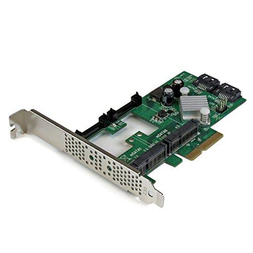 StarTech.com 2 Port PCI Express 2.0 SATA III Raid Controller Karte mit 2x mSATA und HyperDuo SSD Tiering - SATA Schnittstellenkarte